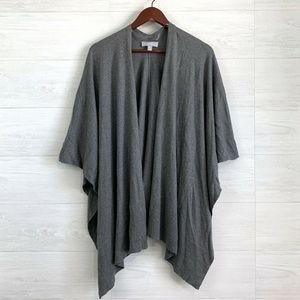 Nordstrom OS Gray Wool Blend Luxury Soft Scarf